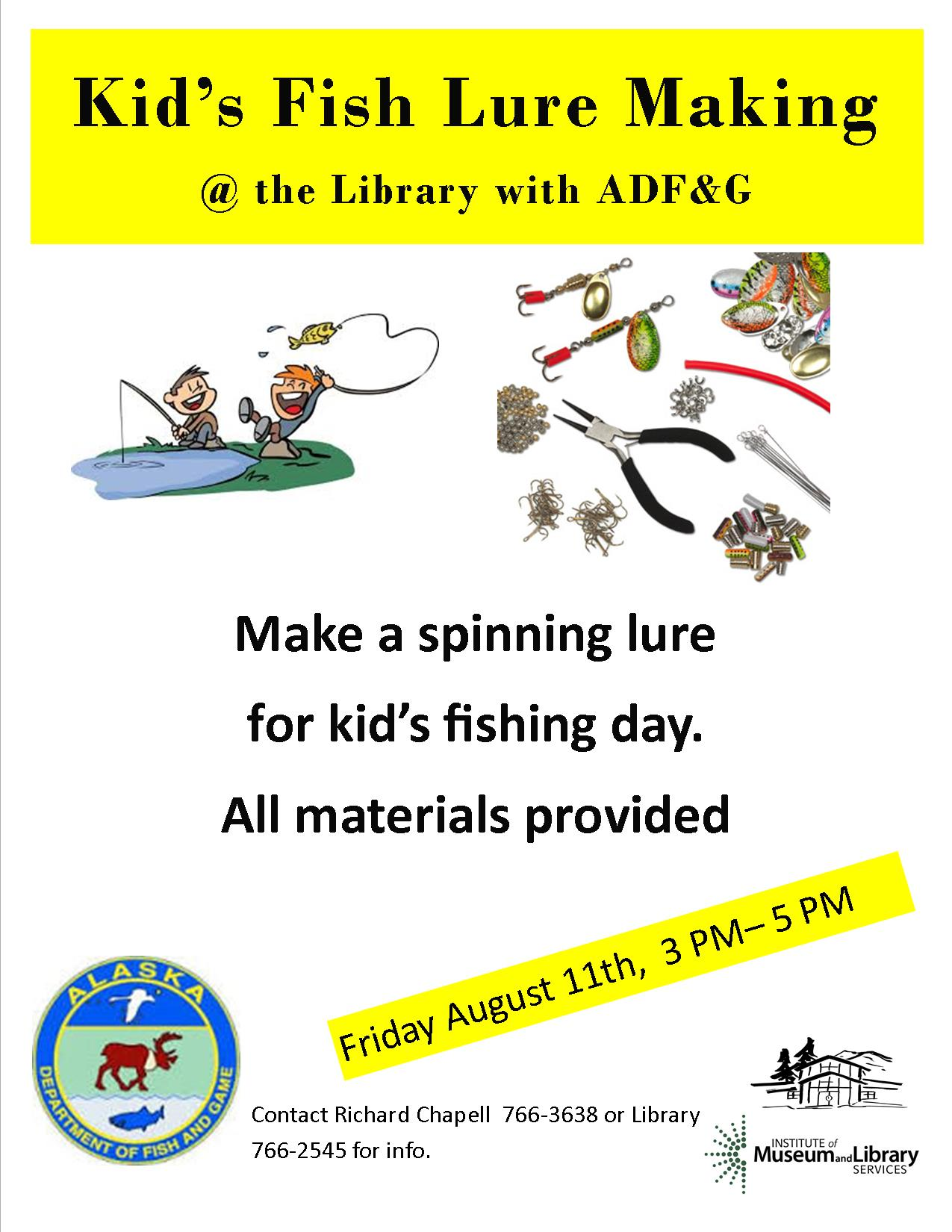 Kid's Fish Lure Making Day with ADF&G | Haines Borough Public Library