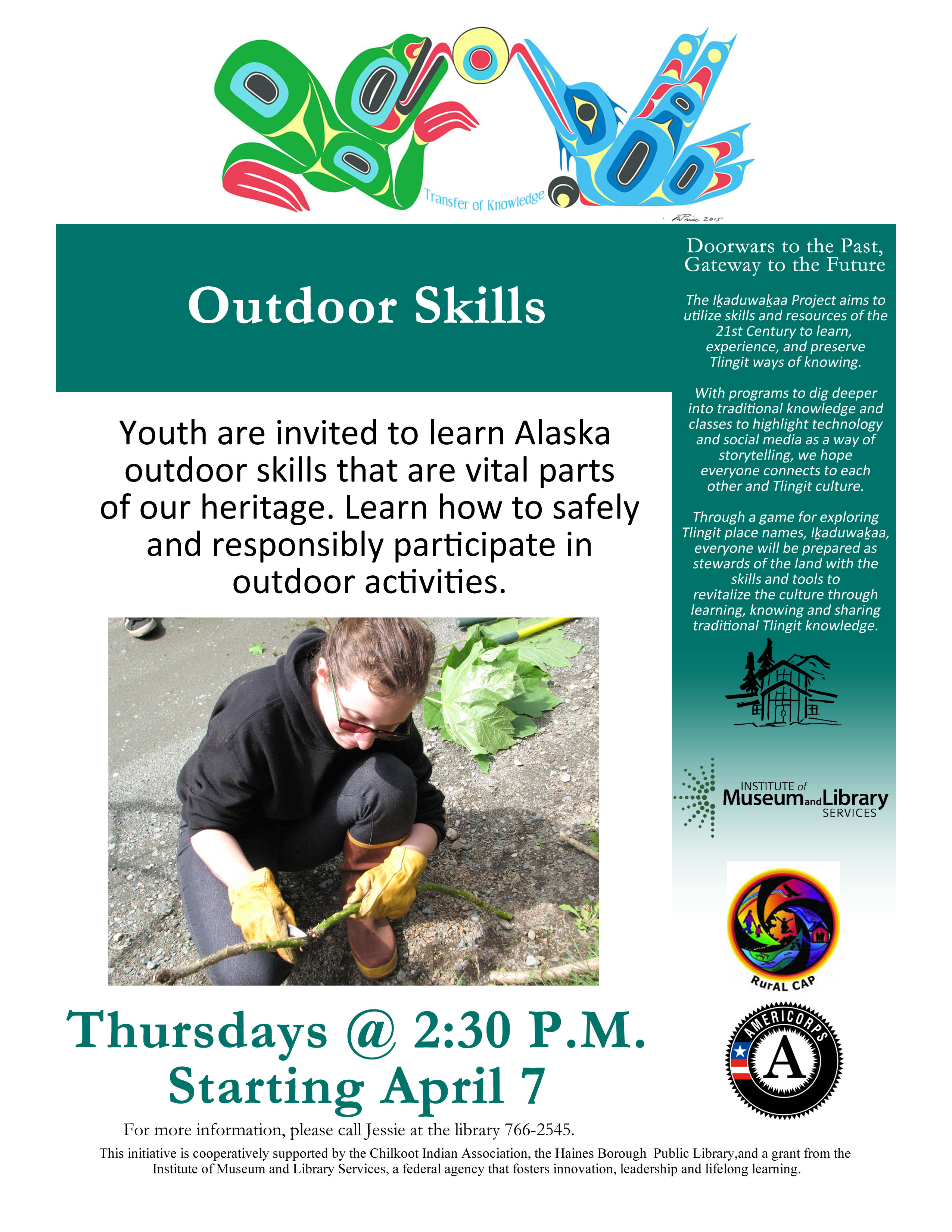 Outdoor Skills for Youth | Haines Borough Public Library
